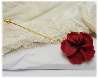 Hibiscus Brooch or Stick Pin - Hibiscus Jewelry