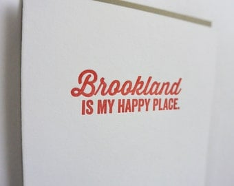 DC Love Letterpress Card: Brookland is my Happy Place
