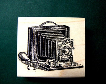 photo camera rubber stamp WM  P18