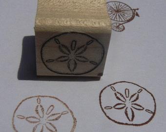 Miniature seadollar rubber stamp Wm P24