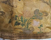 Antique 1700's 'Bizarre Silks Period' Brocade Wall Hanging