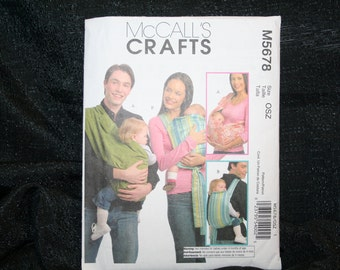 UNCUT NEW  McCalls 5678 Baby Carriers Sewing Pattern SEWBUSY12
