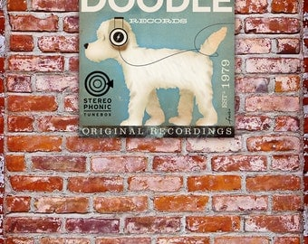 Doodle album artwork dog records graphic artwork on gallery wrapped canvas by stephen fowler