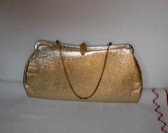 Gold Clutch Purse- Pocketbook - Bag - Evening Bag Vintage Pocketbook