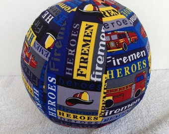 Balloon Ball with Drawstring Pouch-Firemen Heroes (Ball 112)