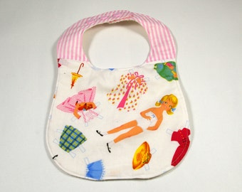 Baby Bib Quilted patchwork paper doll baby bib
