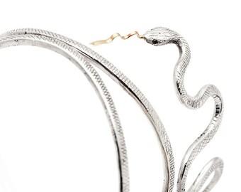 Engraved Snake Bangle