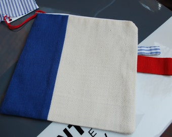 Cute cotton and linen purse