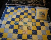 Handmade Customized 2-Piece Nursery Set Quilt and Pillow with Imprinted Photos