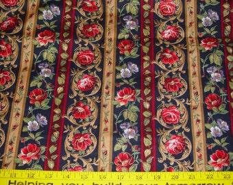 Floral Stripe Robert Kaufman Fabric - 1 3/4 yard
