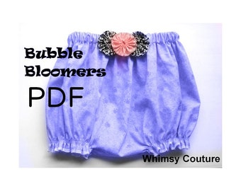 Bubble Bloomers Pattern  perfect for embroidery PDF Instant