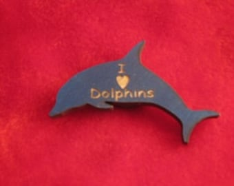 Wooden Customized Dolphin Magnet