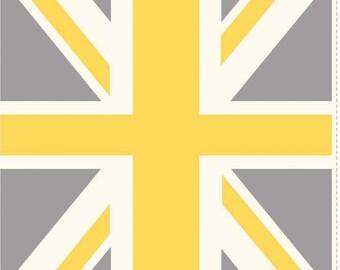 Union Jack Yellow 1 Yard Panel