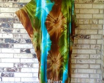 Extra Long Plus Size Tie Dye Tunic