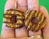 Girl Scout Cookies, Samoa Earrings, Food Jewelry, Cookie Earrings, Miniature Food Jewelry