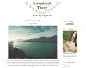 Instant Download Free Install or DIY Premade Blogger Template Splendored Thing Mobile Responsive Graphic Design Blog