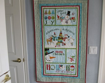 Christmas Wall Hanging Let it Snow designed by Nancy Halvorsen for Benartex