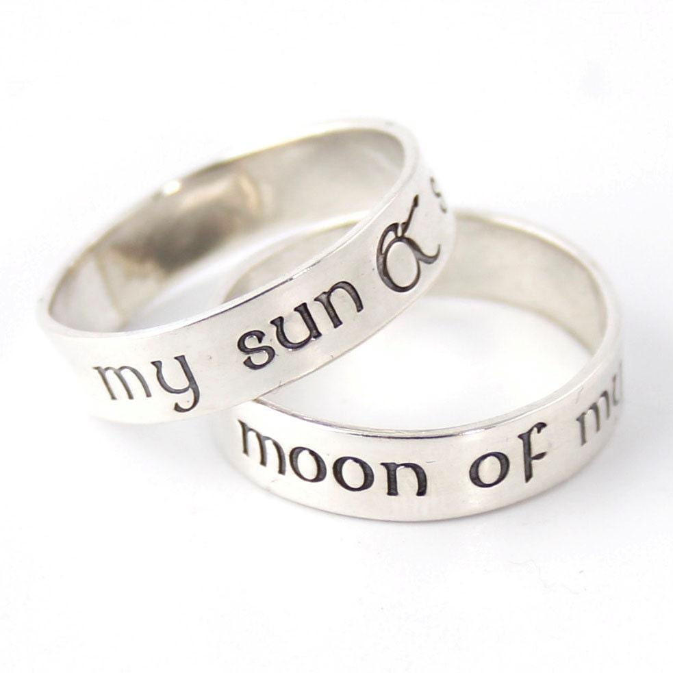 wedding rings with engraved buy nerd wedding rings