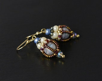 Victorian Beadwoven earrings