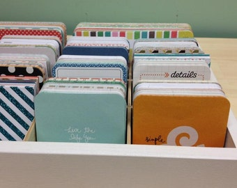 Journaling Card Organizer for project life, picture my life type cards holds 2500