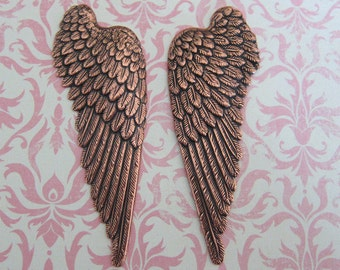 NEW Copper Angel Wing Findings 3438C