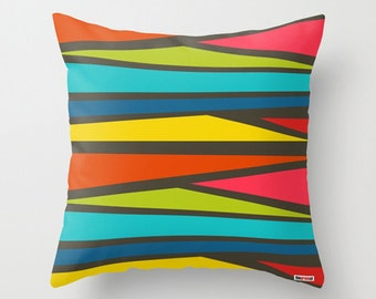 Decorative throw pillow cover - Colorful pillow cover - Geometric pillow - Spring Decorative pillow - Summer pillow