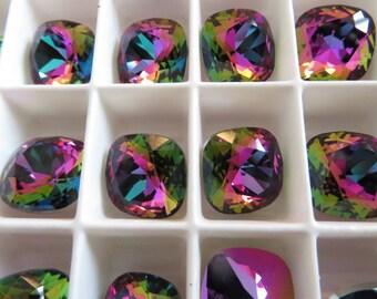 2 Crystal Electra Swarovski Crystal Square Cushion Cut Stone 4470 12mm