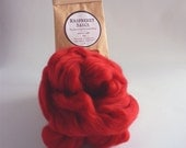 Raspberry red merino roving, 25g (1oz) Raspberry Sauce, 21 micron, merino roving,  merino tops, felting wool, needle felting, wet felting