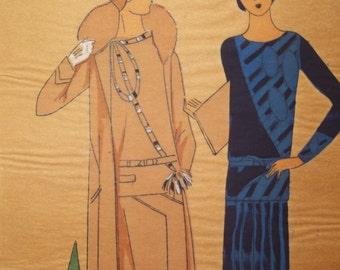 Tres Parisien French Fashion Print 1920s Era