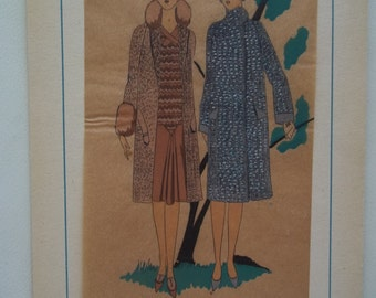 Tres Parisien French Fashion Print 1920s