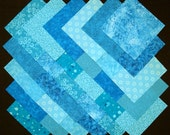 TEAL 100% cotton prewashed 5 inch Quilt Block Fabric Squares (#B/40A)