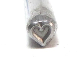 Traditional Heart steel design stamp 5x5 mm for mothers name jewelry stamping