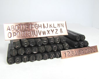 large alphabet stamps etsy With large metal letter stamps