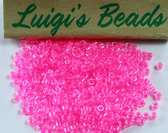 11/0 Miyuki Delica Glass Seed Beads DB2036- Luminous Crystal Pink 5g