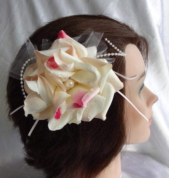 Bridal Hair Wedding Hair Flower Hair Comb Rose Hair Clip Fascinator