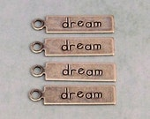 Dream Affirmation Charm, Antique Silver, Trinity Brass 4 Pc. AS301