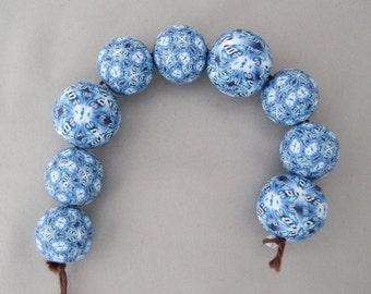 Blue Kaleidoscope Beads
