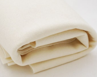 100% Pure Wool Felt Fabric - 1mm Thick - Made in Western Europe - Light Cream