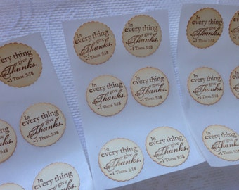 Thank you Sticker Seals - vintage Inspired Wedding Thank You Envelope Seals