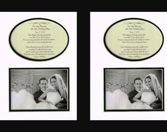 Parents Wedding Thank You Personalized Set of two from Bride and Groom mom dad