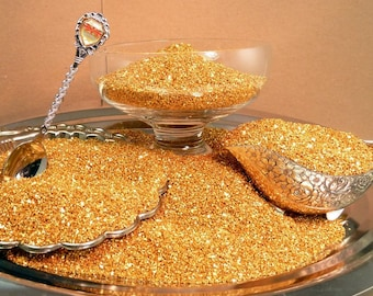 Chunky Gold Glass Glitter - 70 Grit [311-7-007]