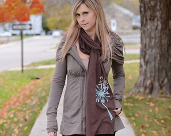 Flirty Flowers Scarf in Chocolate