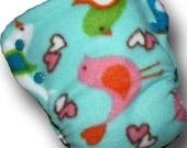 Aqua Birds - M/L OBV BedBug Plus Cloth Diaper