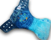 Lil Monster - M/L Organic Bamboo Velour Fitted Cloth Diaper