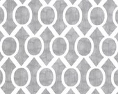 STORM GRAY SYDNEY Premier Prints Fabric By the Yard. Trellis Slub print. Over 1 Yard Destash. Home Decor Yardage. Destash Cotton Material