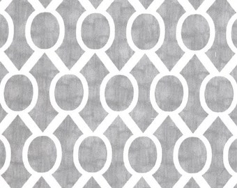 STORM GRAY SYDNEY Premier Prints Fabric By the Yard. Trellis Slub print. Over 1 Yard Destash. Home Decor Yardage. Destash Cotton Material
