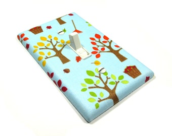 Apple Trees in Blue Light Switch Cover Fall Decoration Autumn Home Decor Switchplate Switch Plate 1529
