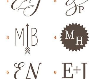 Monogram, wedding logo, save the date, custom logo, personalized wedding, wedding stationery, DIY wedding, script font, digital file