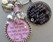 MOTHER of the BRIDE gift- PERSONALIZED- mother of the groom gift, thank you raising man of my dreams, love your daughter whole heart life