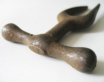 Vintage Metal Tool – Peg Chisel / Perforation Fork. Rustic. Primitive. Antique Tool.